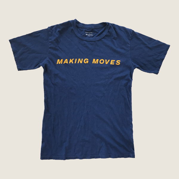 Making Moves Tee, Navy