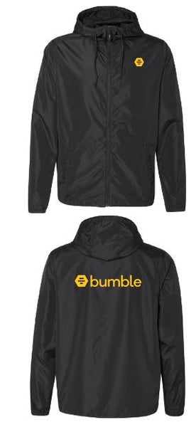 Black Bumble Rain Jacket