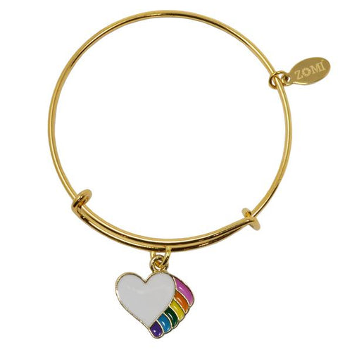 RAINBOW HEART ADJUSTABLE BRACELET