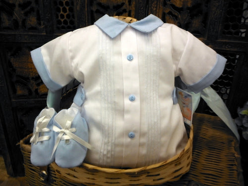 WILL'BETH BOY'S ROMPER WITH SHOES SET #006110