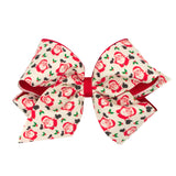 WEE ONE'S KING RETRO OVERLAY BOW (TRUCK OR SANTA) #9549