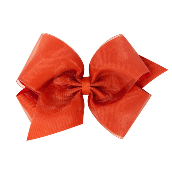 WEE ONE'S KING ORGANZA OVERLAY BOW #5012