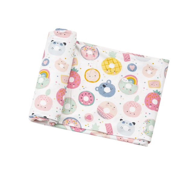 DONUT SMILES BAMBOO SWADDLE BLANKET #ADS2037