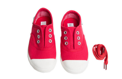 DYLAN CANVAS LACE UP IN RED BY CHUS #21451