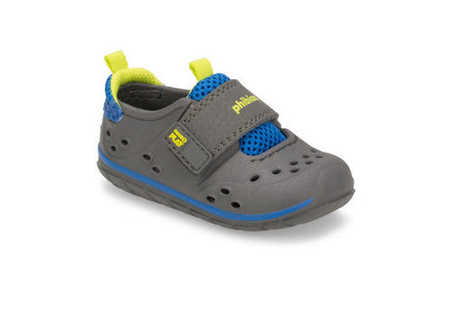 BABY PHIBIAN IN GREY BY STRIDE RITE