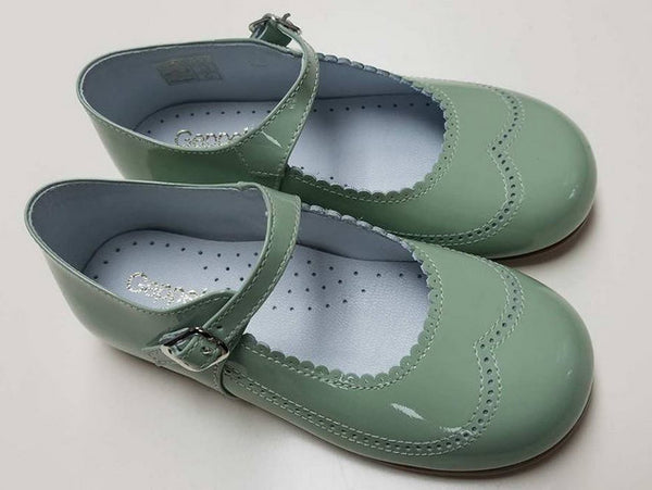 #21517 PALE GREEN, PATENT LEATHER, MARY JANE BY GEPPETTOS
