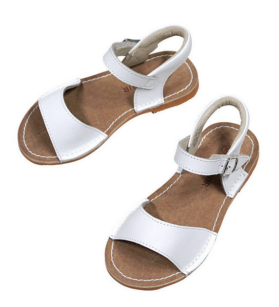 STITCH DOWN SANDAL IN WHITE #21711