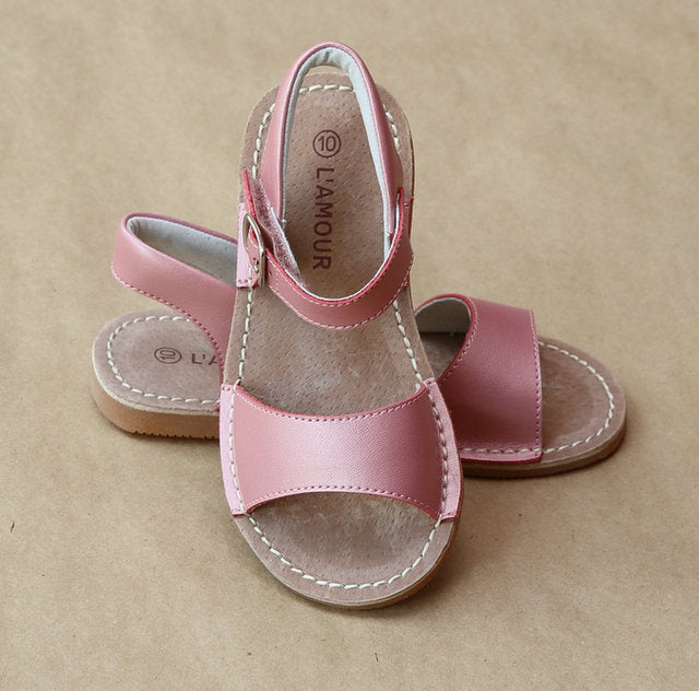 STITCH DOWN SANDAL IN PINK #21711