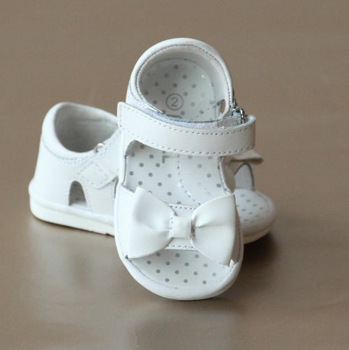 BABY BOW SANDAL IN WHITE #17301