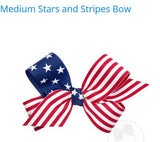 MEDIUM STARS AND STRIPES BOW