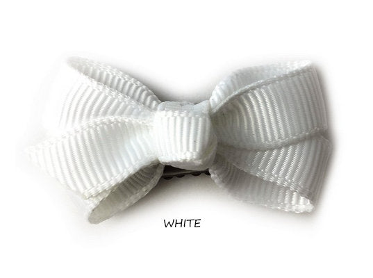 BABY WISP, MINI LATCH WISP CLIP CHELSEA BOW (CHOOSE YOUR COLOR)