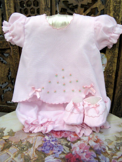 WILL'BETH DELICATE PINK DIAPER SET #5560