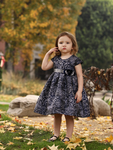 NAVY PARTY DRESS BY ISOBELLA & CHLOE