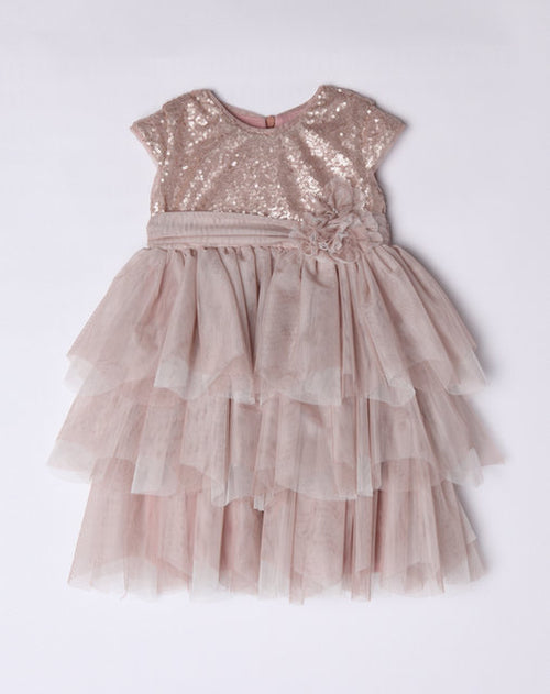 ROSE GOLD SEQUIN PARTY DRESS BY ISOBELLA & CHLOE