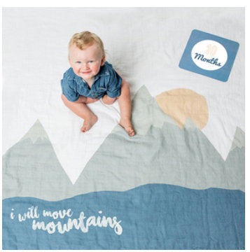 Baby's First Year Blanket & Cards Set - I Will Move Mountains #22316
