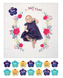 Baby's First Year Blanket & Cards Set - Stay Wild My Child #22312