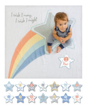 Baby's First Year Blanket & Cards Set - I Wish I May #22315