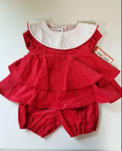 RED CORDUROY LAYERED BUBBLE #20977