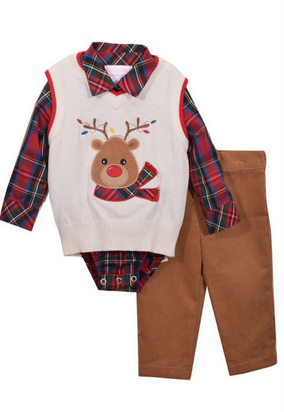 3PC BOYS REINDEER SET #21285