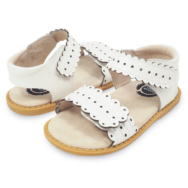 LIVIE & LUCA POSEY SANDAL IN WHITE #21692