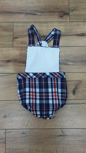 SEABROOK SUNSUIT IN PLANTERS INN PLAID WITH WORTH AVENUE WHITE