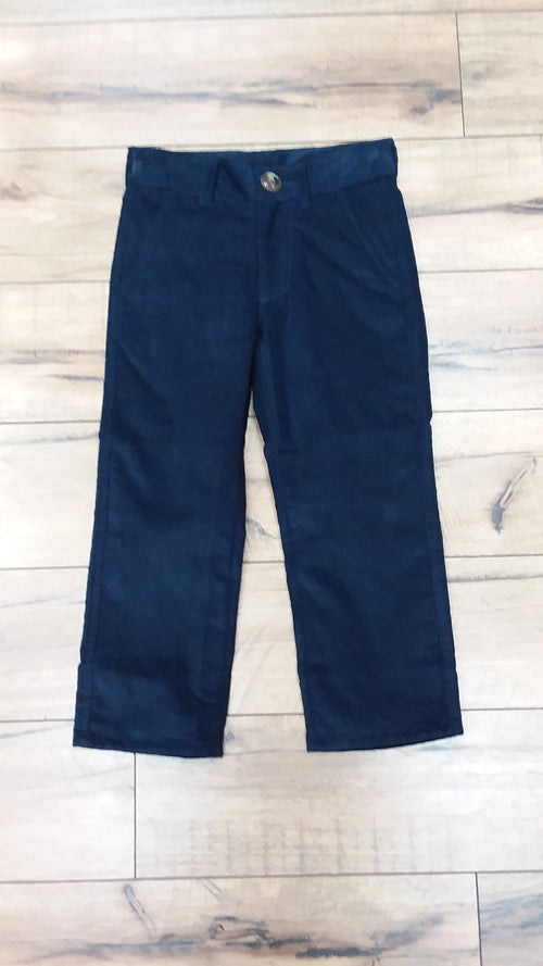 PREP SCHOOL PANTS IN NANTUCKET NAVY CORDUROY WITH KHAKI STORK