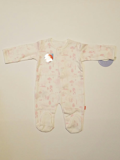 PINK PERFECT DAY ORGANIC COTTON MAGNETIC FOOTIE #17408
