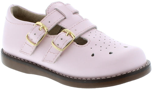 FOOTMATES DOUBLE BUCKLE MARY JANE, LIGHT PINK #21264