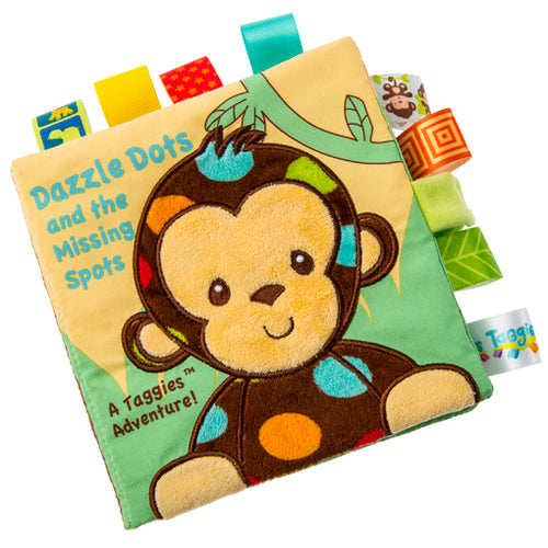 TAGGIES SOFT BOOK, DAZZLE DOTS MONKEY