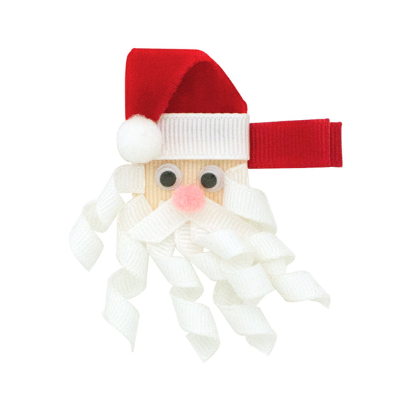 WEE ONE'S SANTA RIBBON CLIPPIE #8666