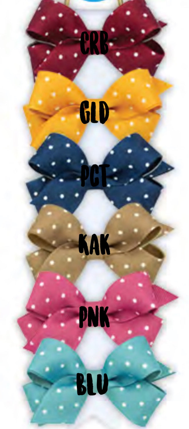 WEE ONE'S TINY DOT GROSGRAIN BOW #9099 #9103