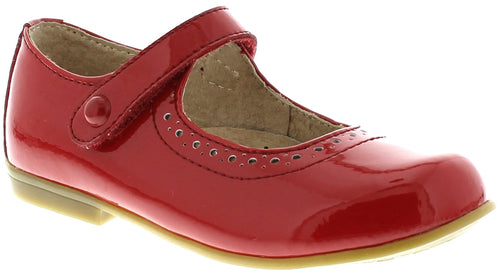 FOOTMATES RED PATENT MARY JANES #21267