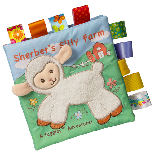 TAGGIES SOFT BOOK, SHERBET LAMB