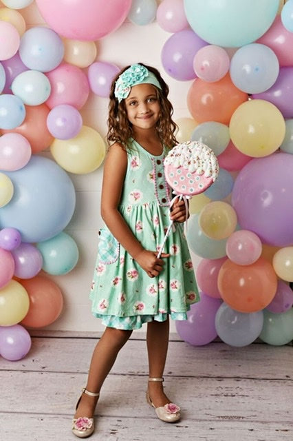 MINT SORBET CHARMING POCKET DRESS #2040