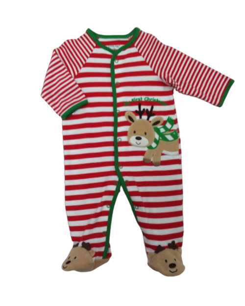 MY FIRST CHRISTMAS REINDEER FOOTIE (size 3 month)