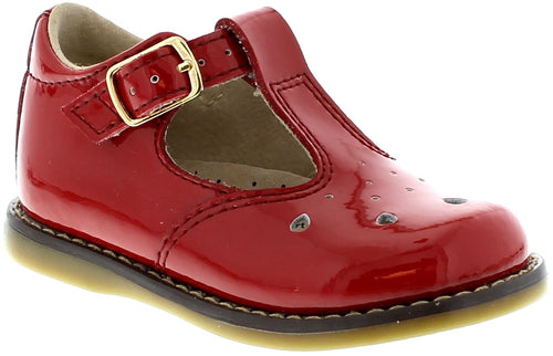 FOOTMATES RED PATENT MARY JANE #21260