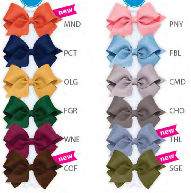 WEE ONE'S CLASSIC MINI GROSGRAIN BOW #MNS