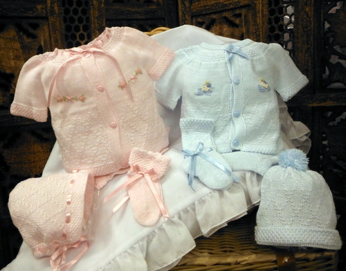 WILL'BETH 4PC KNIT SET IN PINK OR BLUE (YOU CHOOSE) #807490