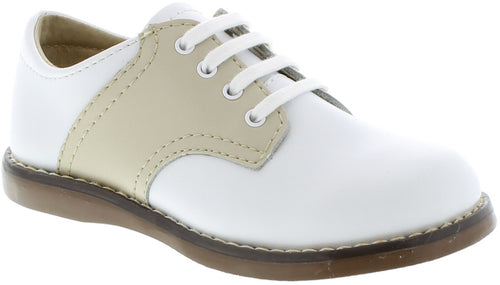 FOOTMATES SADDLE OXFORDS, WHITE/ECRU #21610