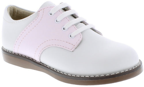FOOTMATES SADDLE OXFORDS, WHITE/ROSE #21611