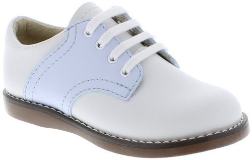 FOOTMATES SADDLE OXFORDS, WHITE/LIGHT BLUE #21612