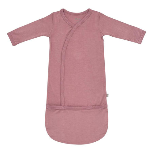 Mulberry bamboo baby bundler gown by Kyte
