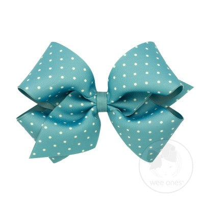 KING TINY DOT GROSSGRAIN BOW #9103