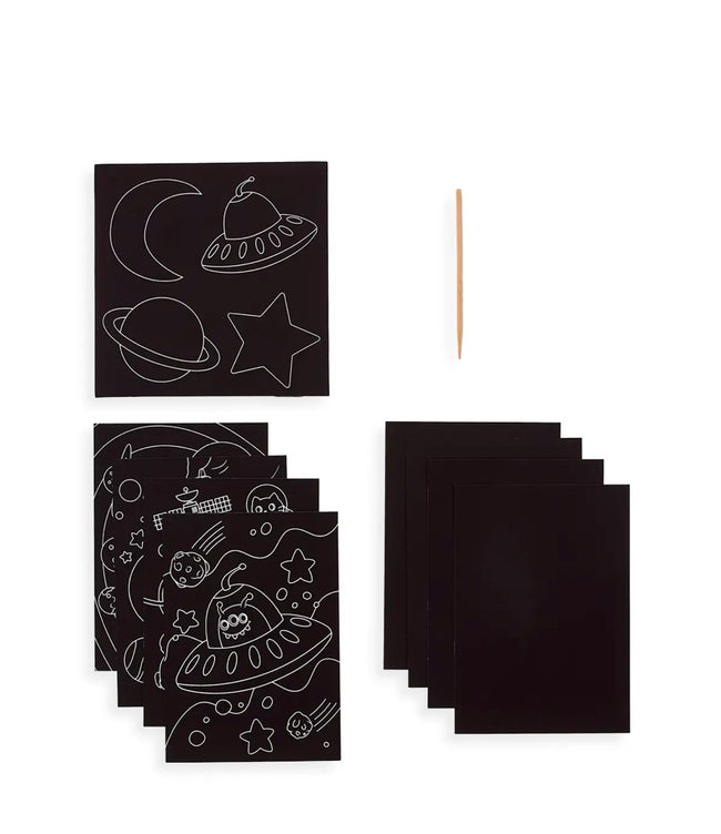LARGE SCRATCH & SCRIBBLE ART KIT-SPACE EXPLORERS