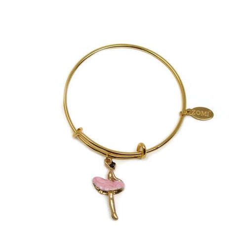 PINK BALLERINA ADJUSTABLE BRACELET