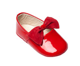 ELEPHANTITO BABY BALLERINA WITH BOW IN RED PATENT LEATHER