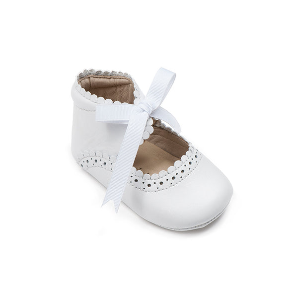 ELEPHANTITO BABY SABRINAS IN WHITE LEATHER