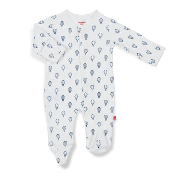 BLUE OPEN SKY ORGANIC COTTON MAGNETIC FOOTIE #170519