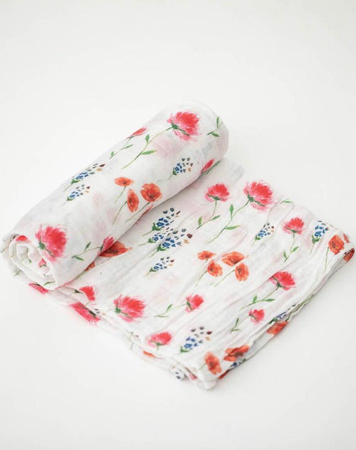 COTTON MUSLIN SWADDLE, WILD MUMS