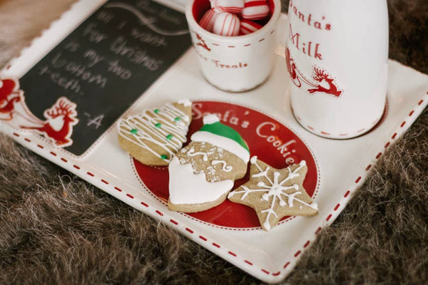 SANTA'S COOKIE PLATTER WITH COOKIE CUTTERS
